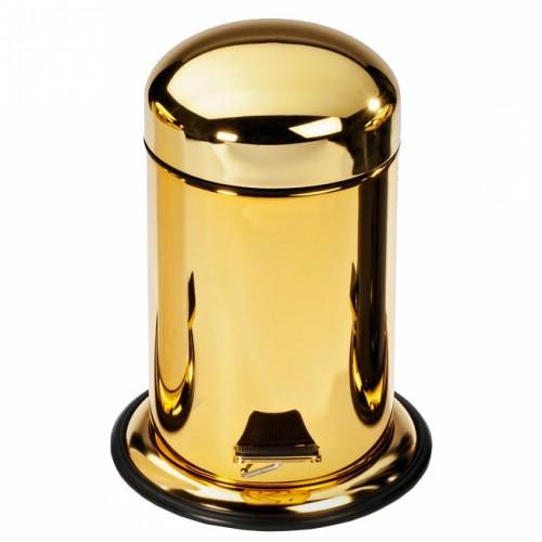 Poubelle à pédale finition dorée
