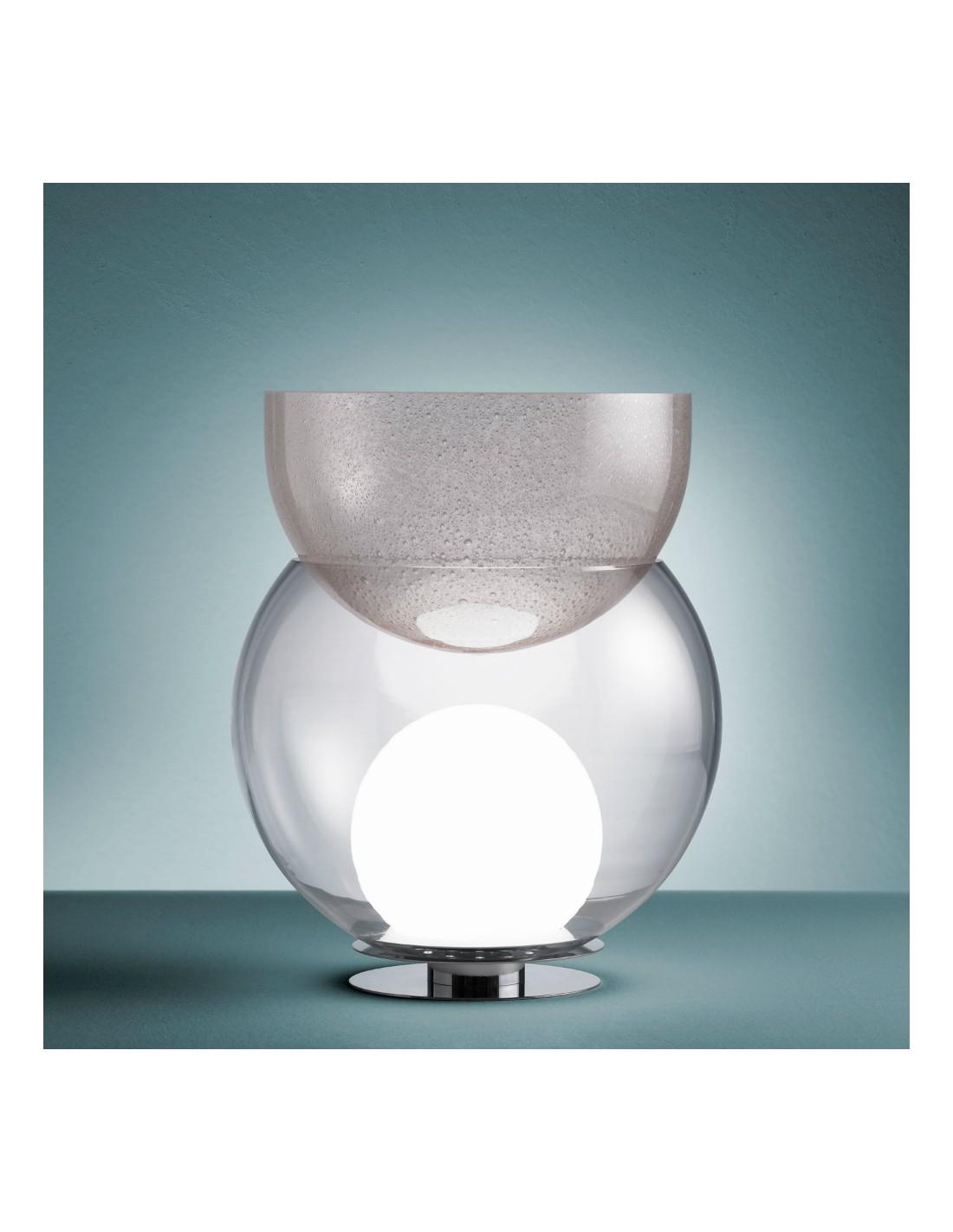 Lampe de table Giova grand modèle FontanaArte vue d'ensemble