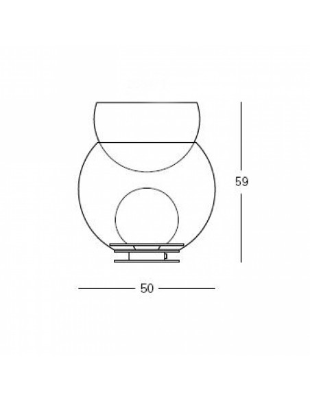 Lampe de table Giova grand modèle FontanaArte plan
