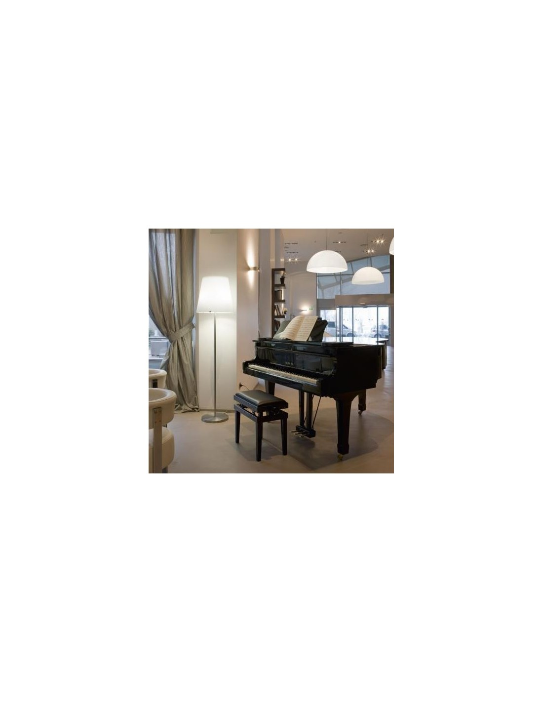 lampadaire 3247 grand mod le mise en sc ne salon fontana arte. Black Bedroom Furniture Sets. Home Design Ideas