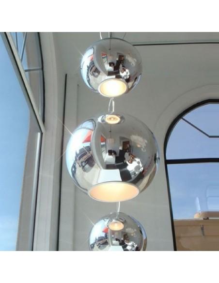 Suspension Globo Di Luce moyen modèle compositions en scène Fontana Arte
