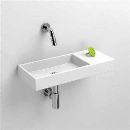 Lave mains 45 cm sans percement Mini Wash Me avec tablette à droite