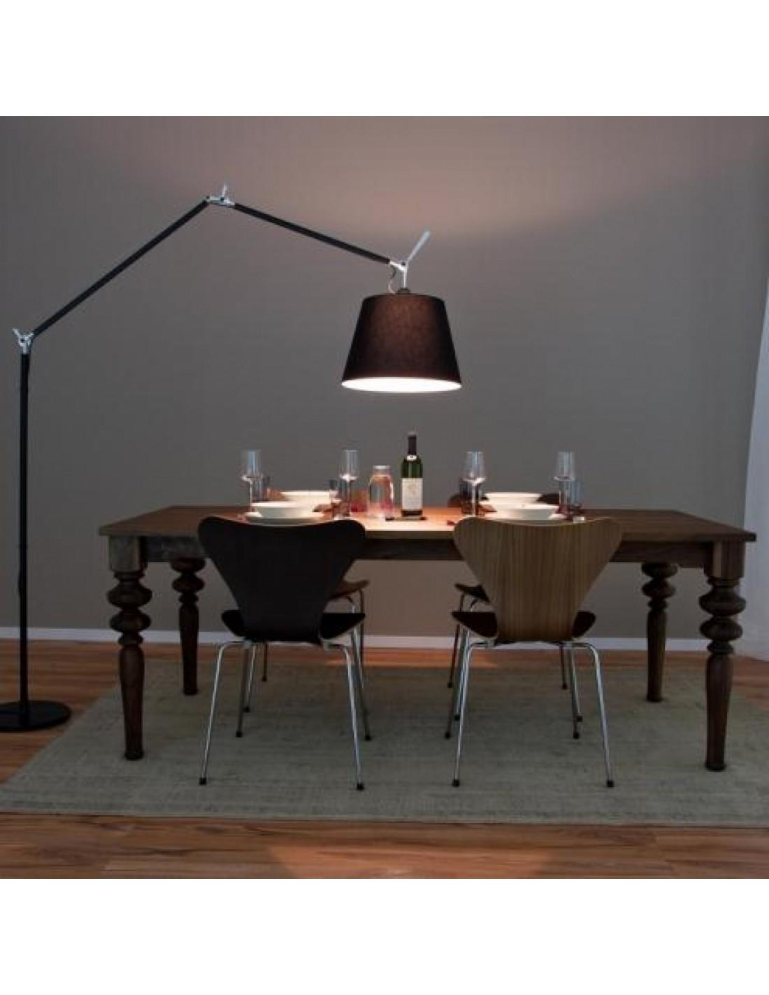 lampadaire artemide tolomeo mega terra noir. Black Bedroom Furniture Sets. Home Design Ideas