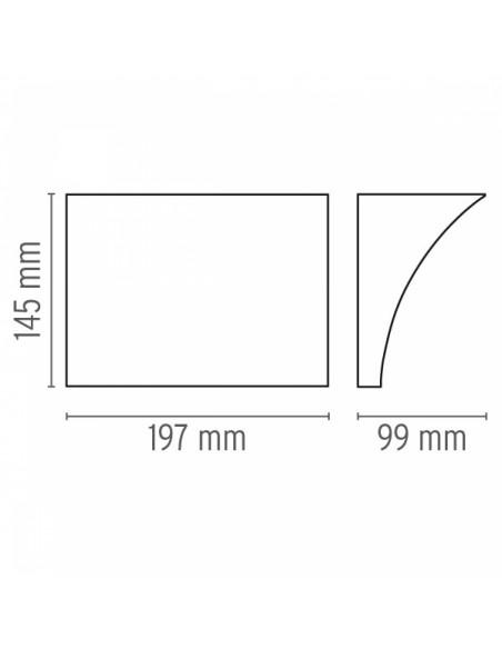 Applique Pochette Up&Down plan et dimensions flos