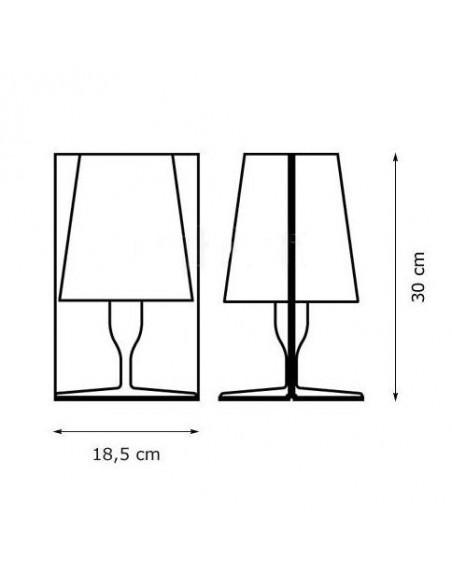 Lampe de table Take plan dimensions pour la marque Kartell - Valente Design