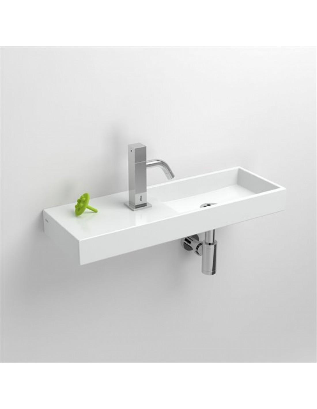 lave mains 56 cm mini wash me percement gauche en c ramique blanc pour la marque clou. Black Bedroom Furniture Sets. Home Design Ideas