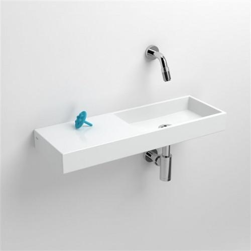 Lave mains 56 cm sans percement Mini Wash Me avec tablette à gauche