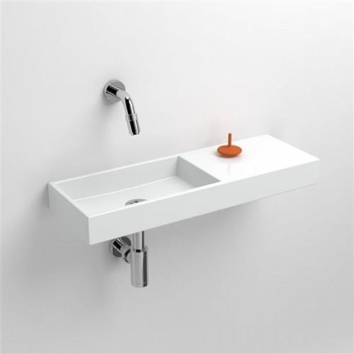 Lave mains 56 cm sans percement Mini Wash Me avec tablette à droite