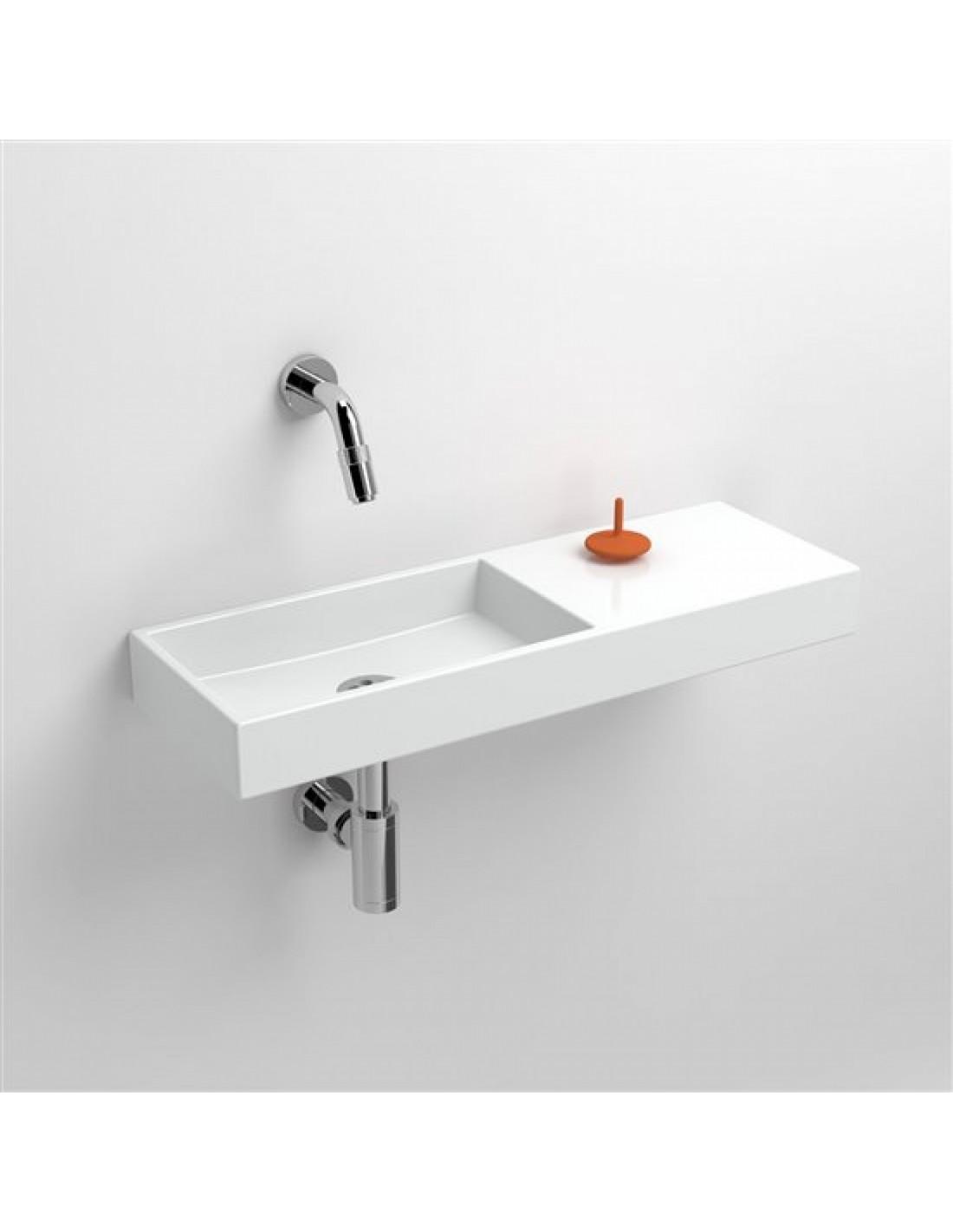 Lave mains 56 cm sans percement Mini Wash Me avec tablette à droite pour la marque Clou