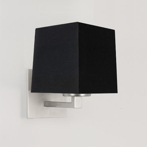 Applique Azumi Classic nickel mat avec abat-jour carré