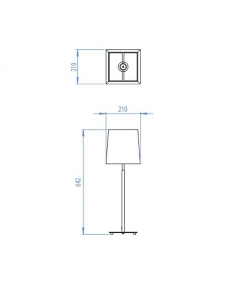 Lampe de table Azumi nickel poli astro lighting plan