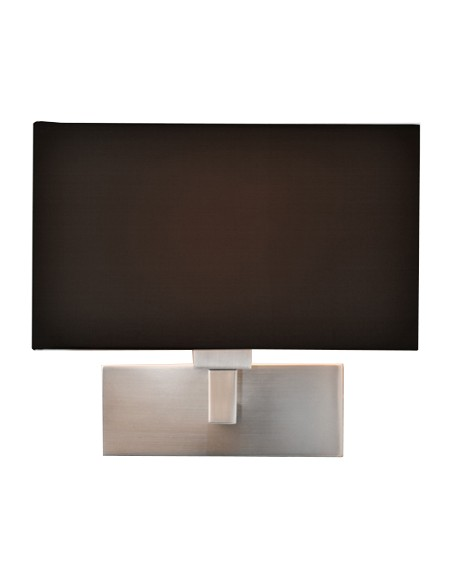 Applique  mural   park lane nickel mat abat jour noir détails astro lighting