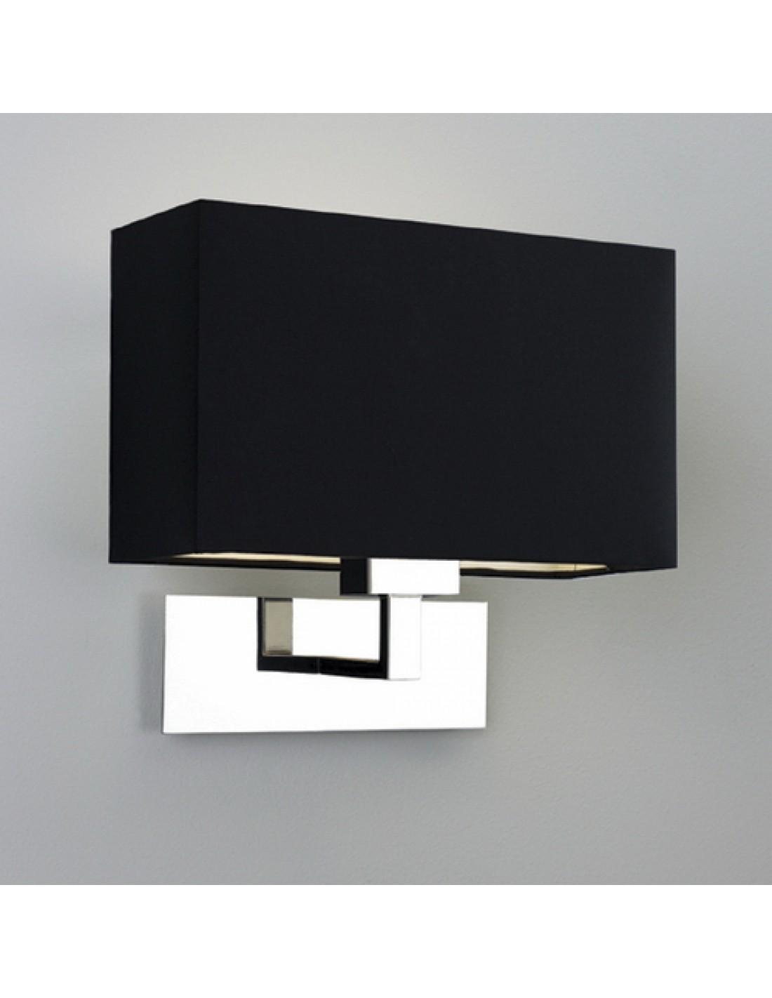 applique park lane grande chrome  abat-jour noir astro lighting