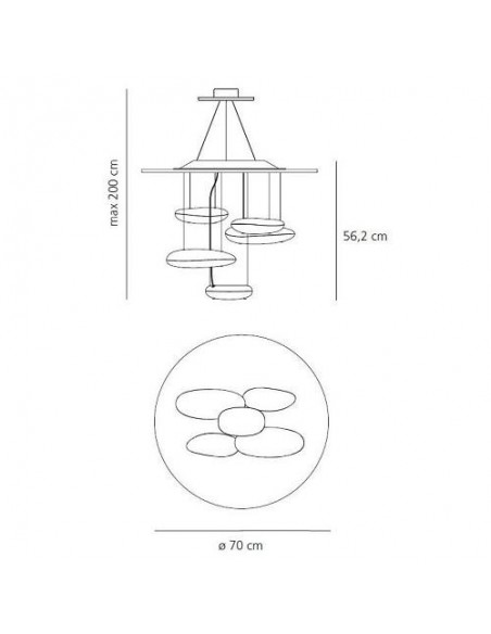 Suspension Mini Mercury LED Artemide  plan