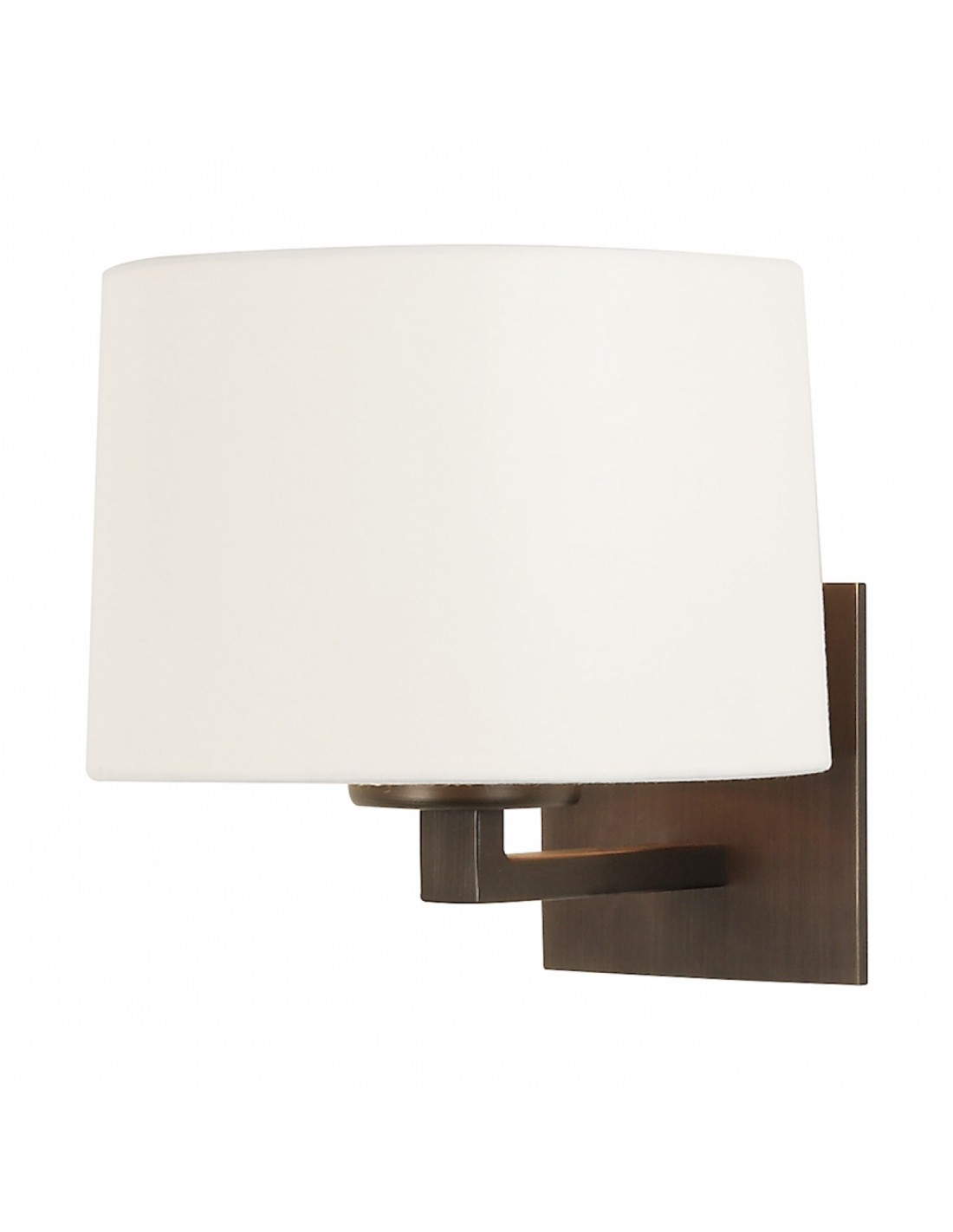 applique mural azumi bronze abat jour rond tissu blanc astro lighting. Black Bedroom Furniture Sets. Home Design Ideas