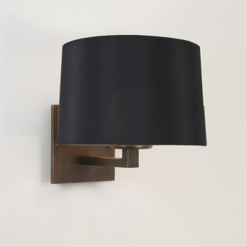 Applique Azumi Classic bronze avec abat-jour rond