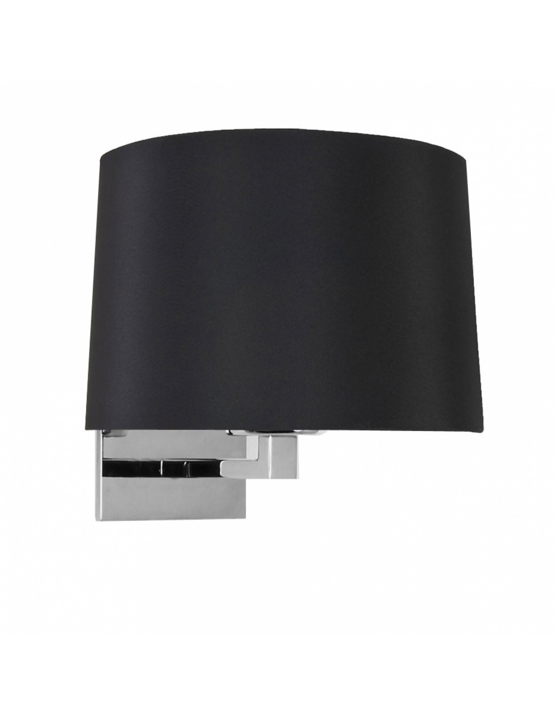 Applique Azumi nickel poli abat-jour noir rond astro lighting