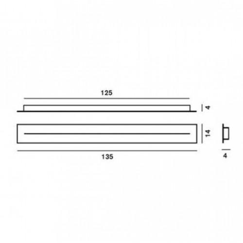 Cache piton multiple linéaire 135cm