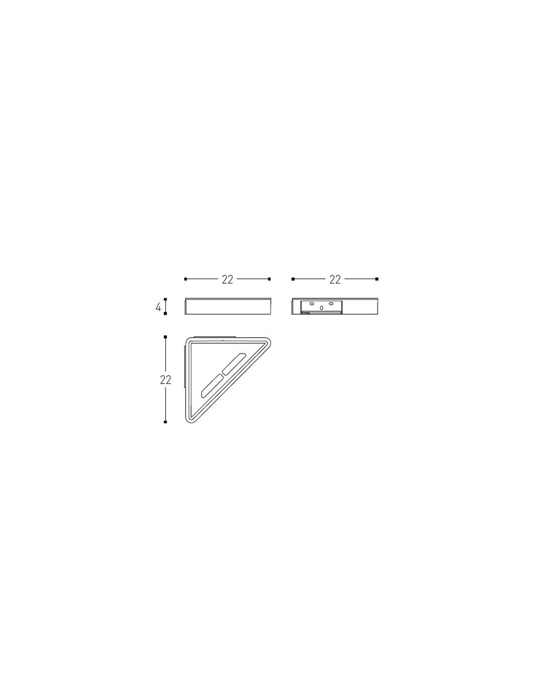 sch ma panier de douche d 39 angle extreme par la marque cosmic. Black Bedroom Furniture Sets. Home Design Ideas
