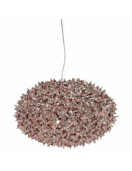 Suspension Bloom Ovale Grande métallisee (ø 53 cm) bronze pour la marque Kartell