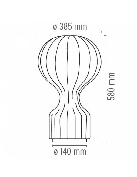Lampe de bureau Gatto plan de flos