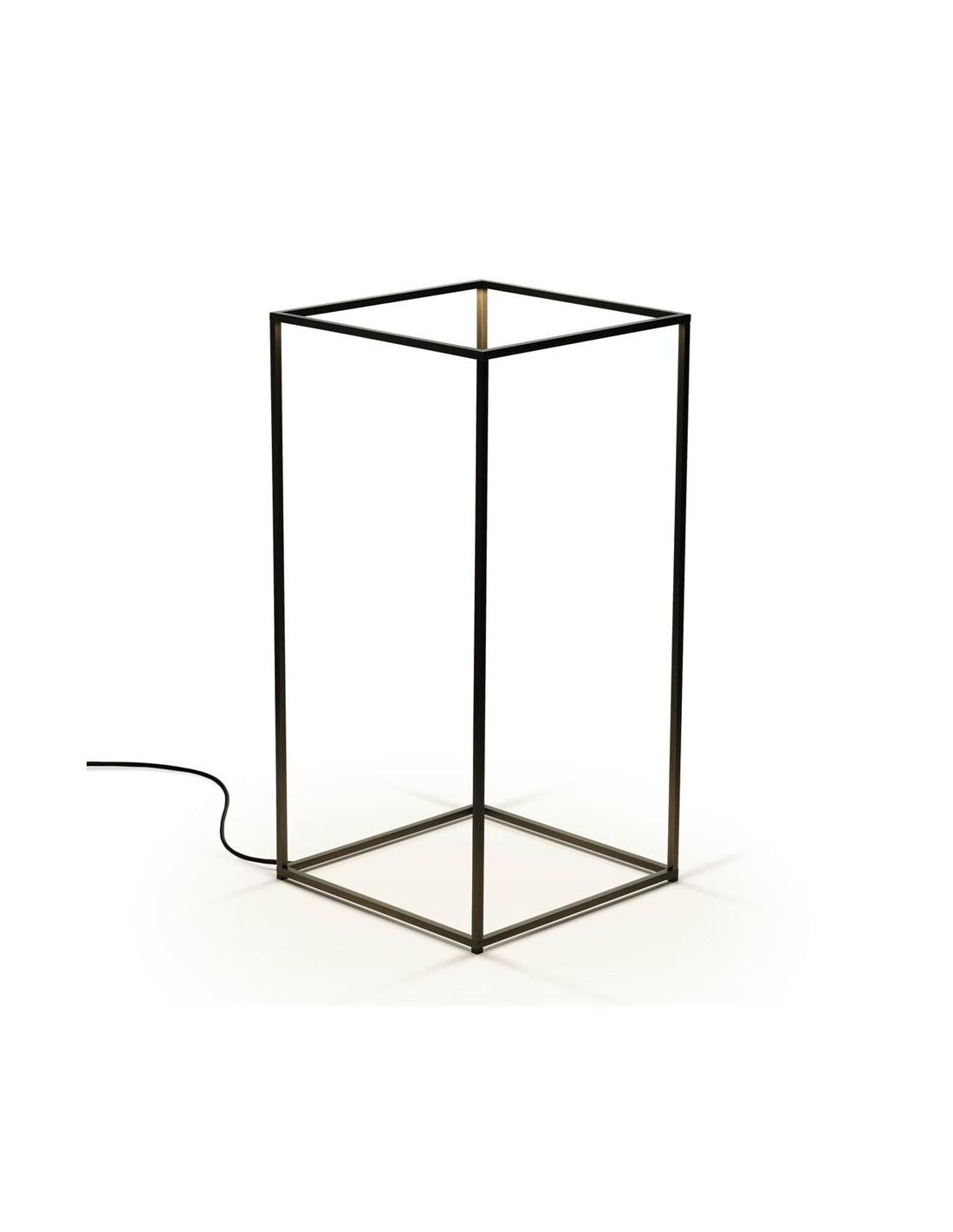lampe de table ipnos laiton anodisé noir de flos