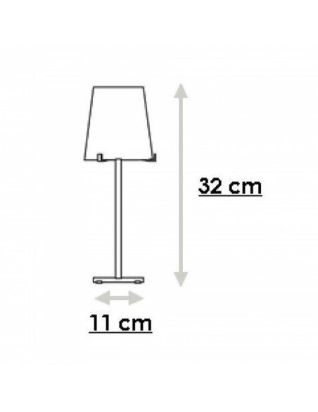 Lampe de table Chiara plan FontanaArte