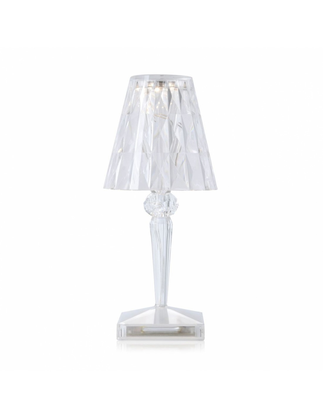 lampe de table sans fil battery seul cristal pour la marque kartell. Black Bedroom Furniture Sets. Home Design Ideas