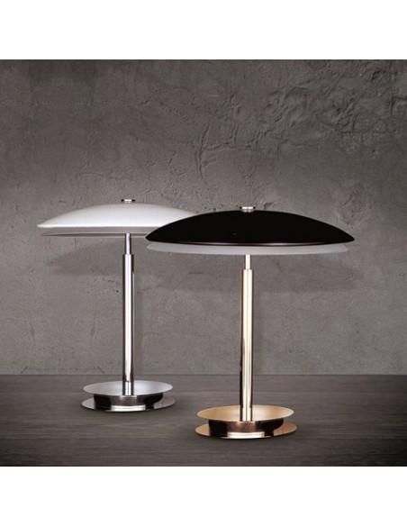 Lampe de Table Bis blanche et noire Fontana Arte
