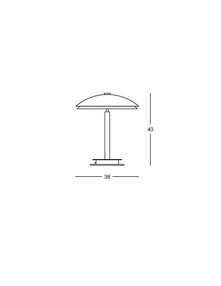 lampe de table bis fontana arte plan