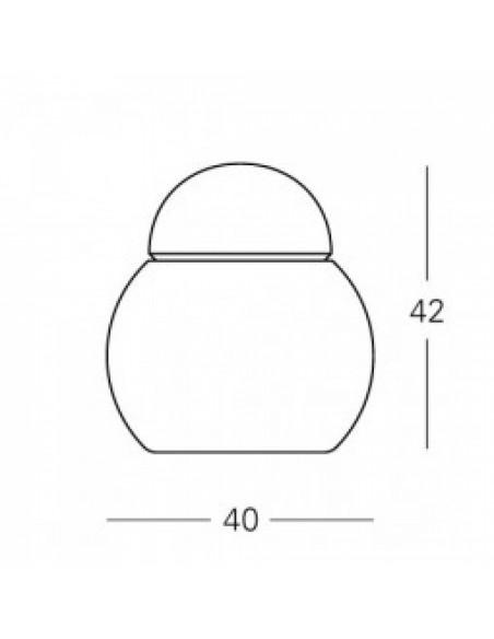 Lampe de table Daruma 40 cm plan Fontana Arte