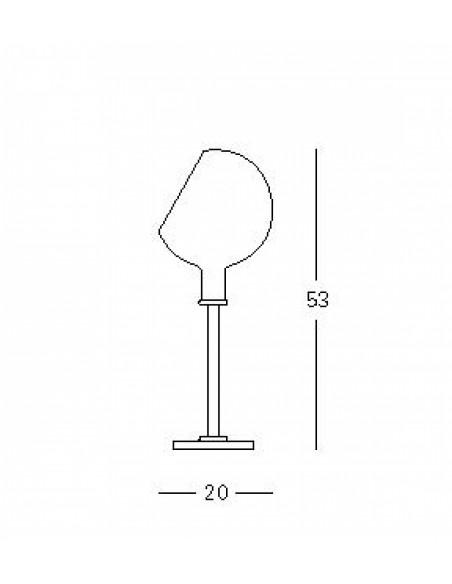 Dimensions lampe à poser Parola Fontana Arte Valente Design