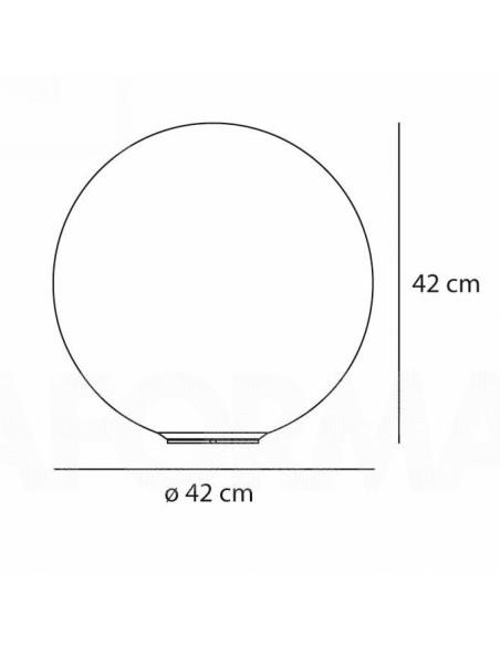 dimensions Lampe à poser Dioscuri 42 plan Artemide