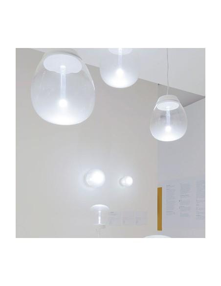 Applique/plafonnier empatia 36 lampe en verre soufflé mise en situation Artemide