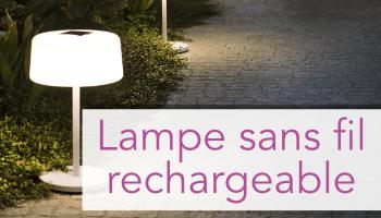 Lampe sans fil rechargeable